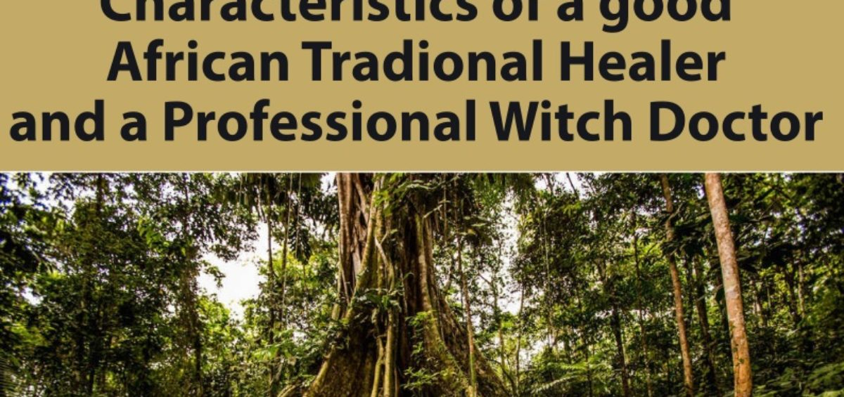Characteristics of a good African Tradional Healer and a Professional Witch Doctor