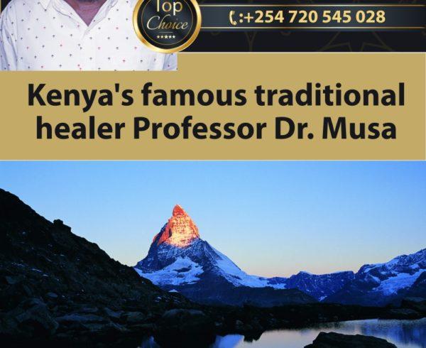 Kenya's famous traditional healer Professor Dr Musa